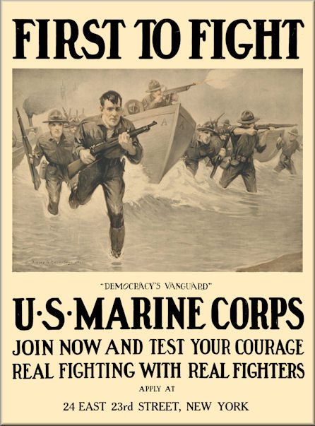 "WWII  USMC /""Join The US Marines/"" 1942 8.5/"" x 11/' Poster"