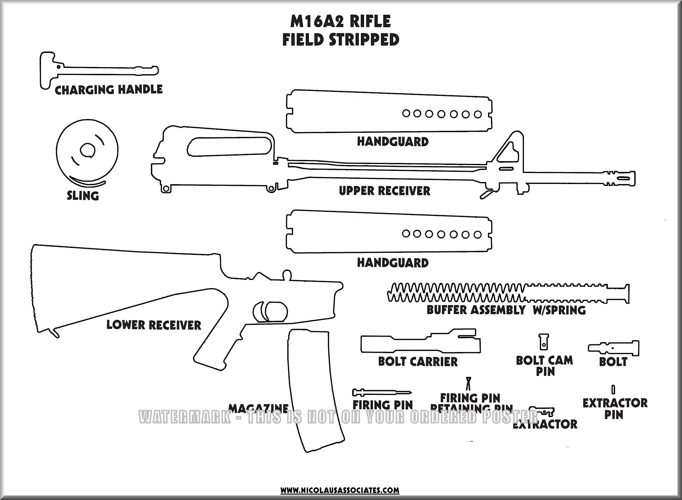 m4 disassembly diagram